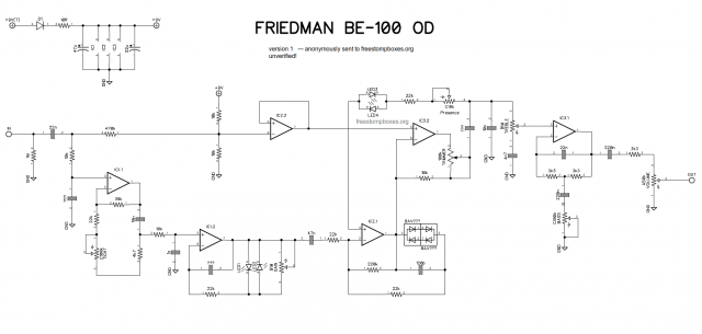 Friedman BE-OD provisional schematic